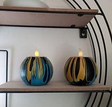 colourful tea light holders, bespoke tea light holders, contemporary tea light holders, colourful candle holders, handmade tea light holders, handmade home accessories