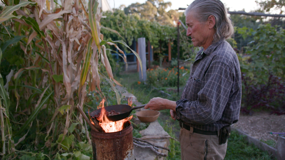 David Holmgren, roasting chestnuts, Melliodora