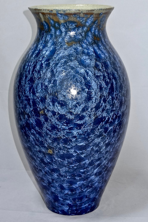 Tall 16 inch vase in blue