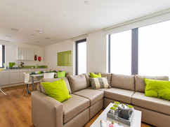 Shared kitchen and lounge in each flat