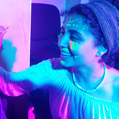 Glow in the dark disco