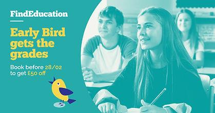Early Bird GCSE Revision FB ad landscape