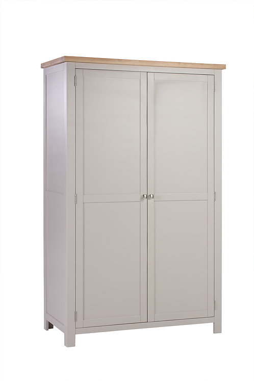 Devonshire Living Dorset Painted Putty DPT031P All Hanging Double Wardrobe