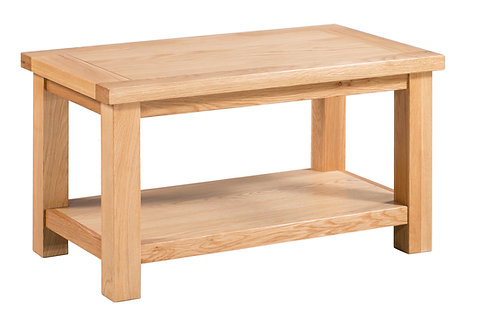 Devonshire Living Dorset Oak DOR069 Small Coffee Table with Shelf
