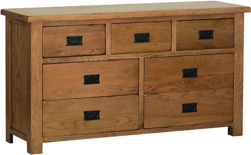 Devonshire Living Rustic Oak RC90 3 Over 4 Combination Chest