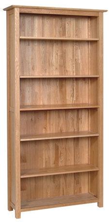 Devonshire Pine New Oak NK50 6Ft Oak Bookcase