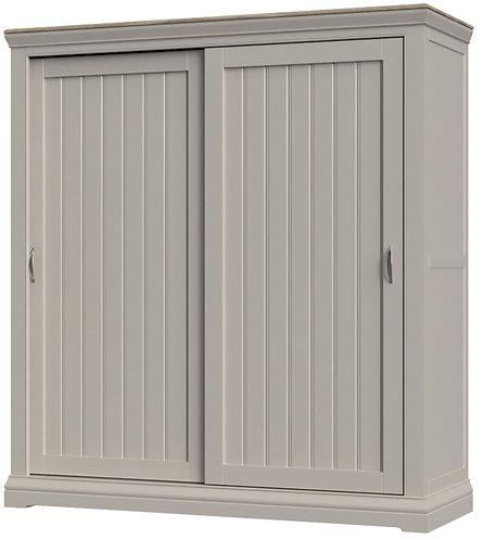 Devonshire Living Cobble Painted COB034 Sliding Door Double Wardrobe