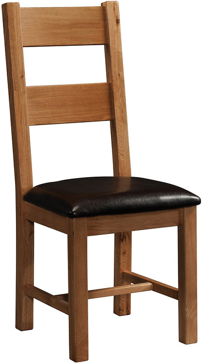 Devonshire Living Rustic Oak RUS098 Ladder Back Dining Chair