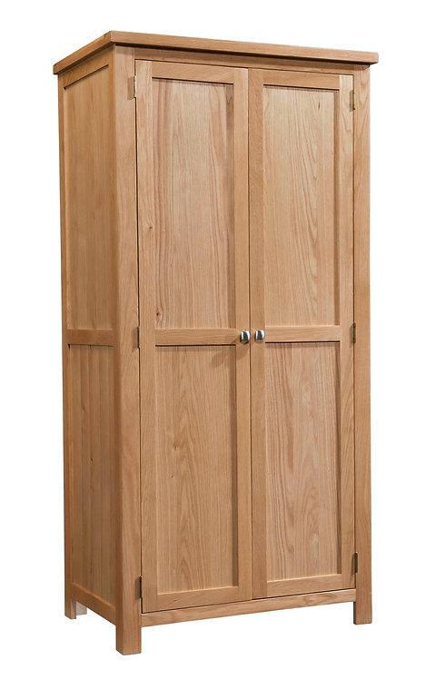 Devonshire Living Dorset Oak DOR031 All Double Full Hanging Wardrobe