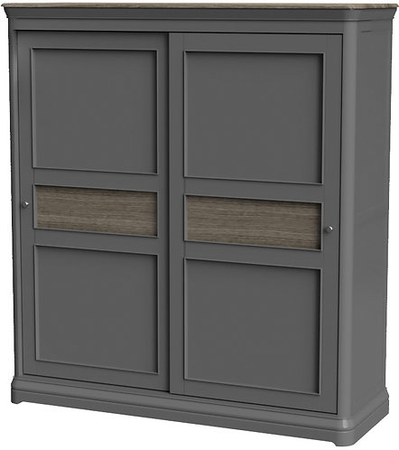 Devonshire Pine Pebble Painted PEB034 Sliding Door Wardrobe