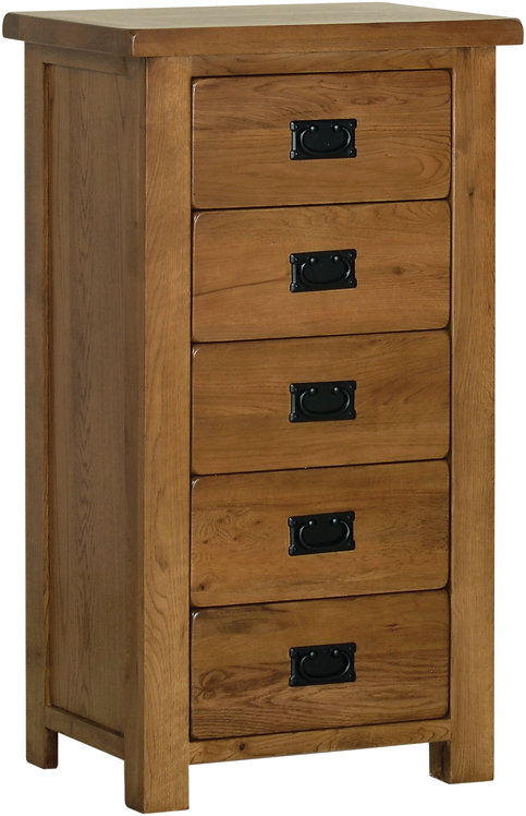 Devonshire Living Rustic Oak RB50 5 Drawer Wellington
