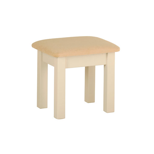 Devonshire Living Lundy DS10 Stool with Grey Fabric Seat Pad
