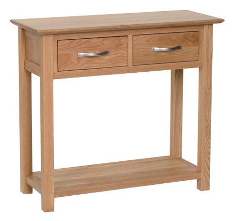 Devonshire Living New Oak NT20 2 Drawer Oak Console Table