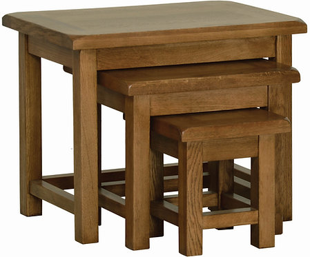 Devonshire Pine Rustic Oak RT28 Small Nest of Tables