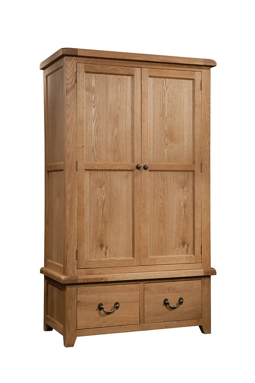 Devonshire Living Somerset SOM032 Double Wardrobe with 2 Drawers