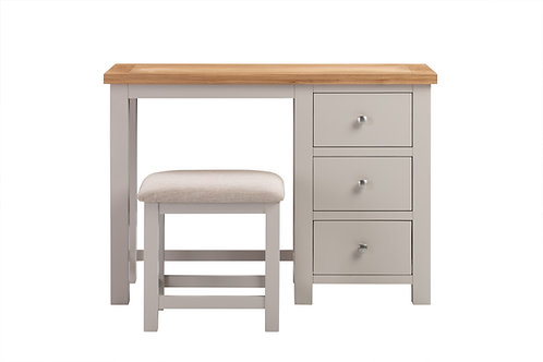Devonshire Living Dorset Painted Putty DPT022P Dressing Table and Stool