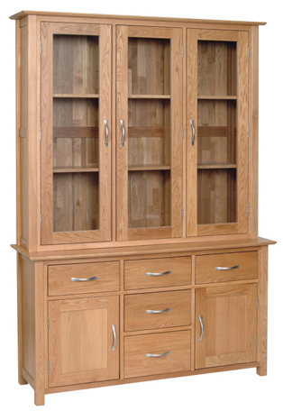 "Devonshire Living New Oak ND40 4'6"" Dresser Top And NS40 4'6"" Dresser Base"