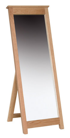 Devonshire Living New Oak NM40 Oak Cheval Mirror