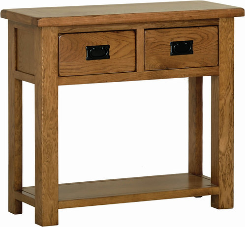 Devonshire Living Rustic Oak RT20 2 Drawer Console Table