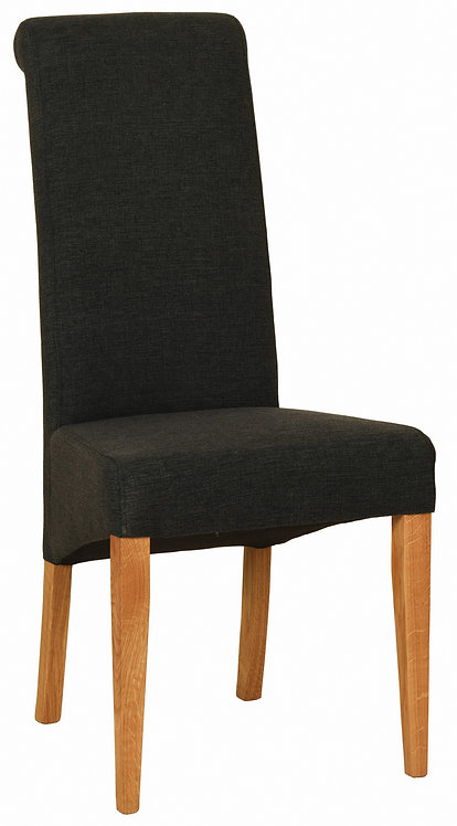 Devonshire Living New Oak FAB602 Charcoal Fabric Dining Chair