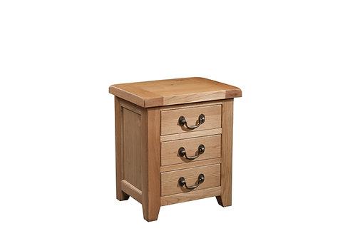 Devonshire Living Somerset SOM001 3 Drawer Bedside Cabinet