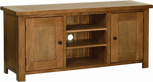Devonshire Living Rustic Oak RE35 Large TV Cabinet