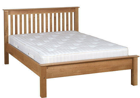 """Devonshire Pine New Oak NH25 4'6"""" Low Foot End Bed"""