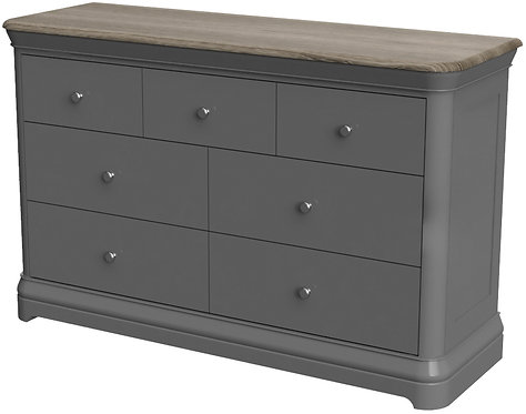 Devonshire Pine Pebble Painted PEB006 3 Over 4 Combination Chest