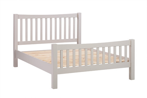 "Devonshire  Living  Dorset Painted Putty DPT042P 4'6"" Slatted Bed"