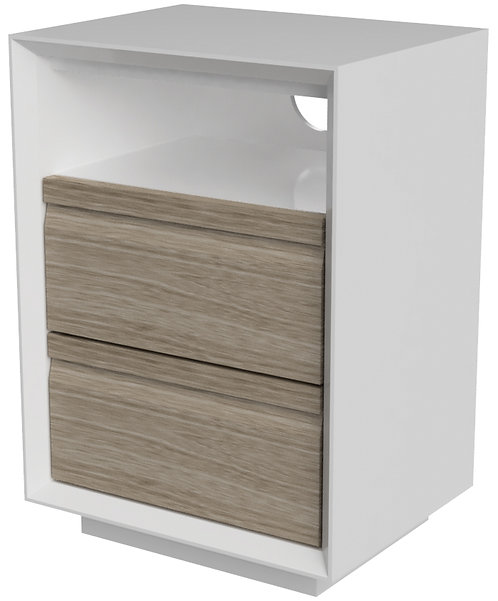 Devonshire Living Corton CUB001 2 Drawer Bedside