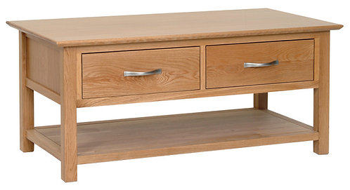 Devonshire Living New Oak NT15 Oak Coffee Table with 2 Drawers