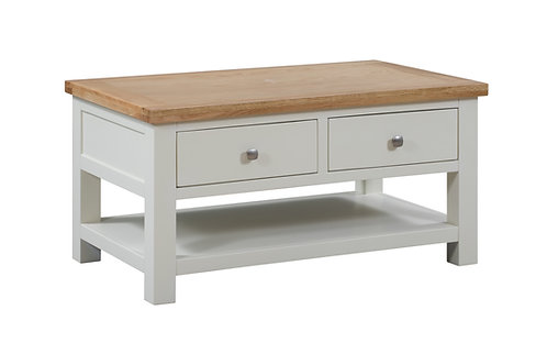Devonshire Pine Dorset Painted DPT068 Coffee Table with 2 Drawers