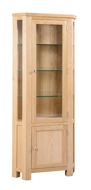 Devonshire Living Dorset Oak DOR086 Glazed Corner Display Cabinet