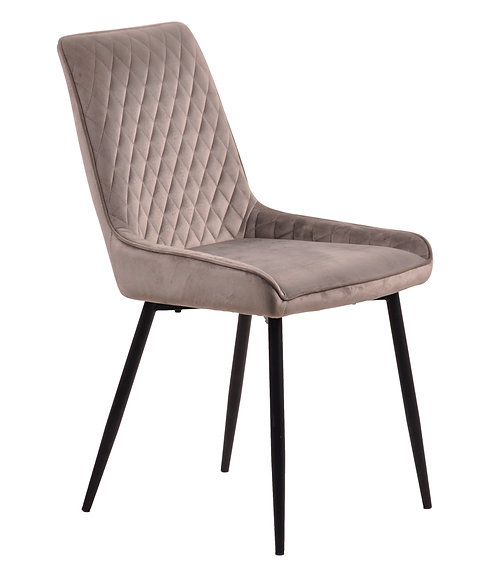 Soft Touch Diamond Back Grey Chair DC3068