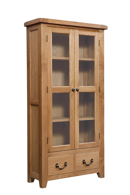Devonshire Living Somerset Oak SOM087 Display Cabinet