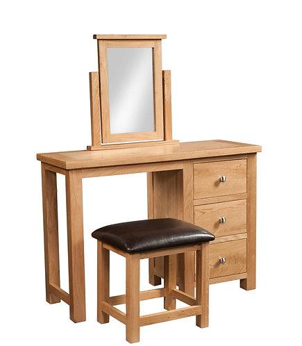 Devonshire Living Dorset Oak DOR022 Dressing Table with Stool