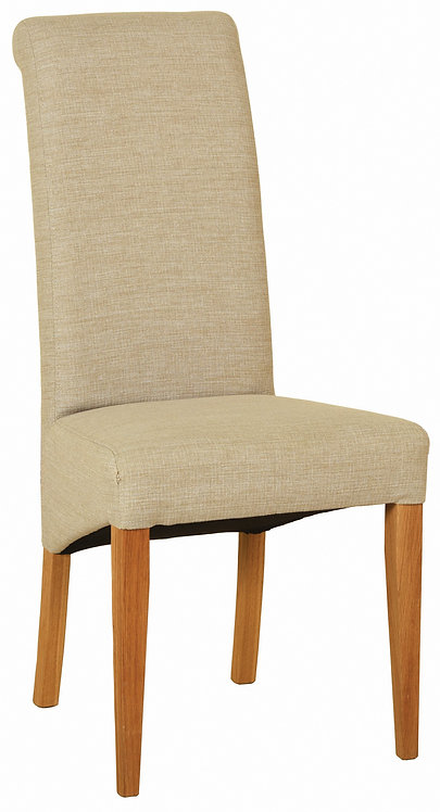 Devonshire Living New Oak FAB402 Beige Fabric Dining Chair