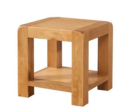 Devonshire Living Avon Oak DAV015 Lamp Table with Shelf