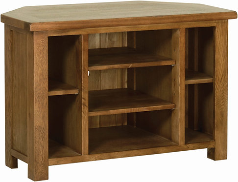 Devonshire Living Rustic Oak RE10 Corner TV Cabinet
