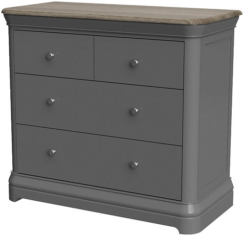 Devonshire Pine Pebble Painted PEB003 2 +2 Chest of Drawers