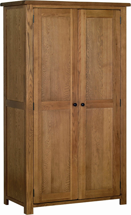 Devonshire Pine Rustic Oak RW20 All Hanging Double Wardrobe