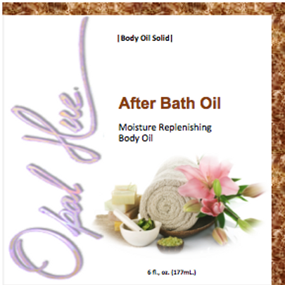 A B O aka...Luxury Line After Bath Oil...