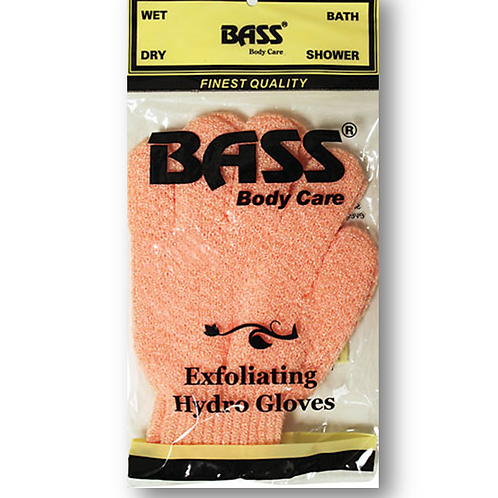 BASS Nylon Exfoliating Scrub Gloves