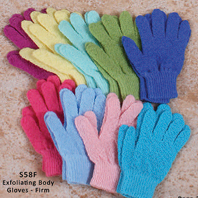 BASS Nylon Extra Firm/ Thick Exfoliating Scrub Gloves
