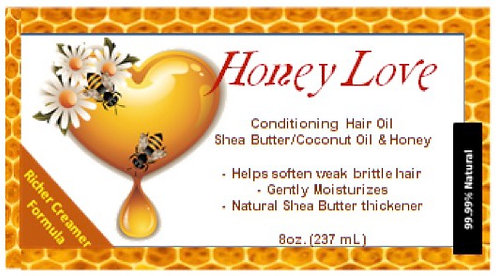 8 oz. Honey Love Hair Oil