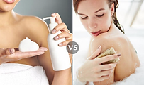 soap vs commercial body wash