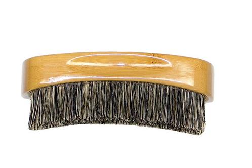 BASS 100% Premium Silver Natural Bristle Beard Brush