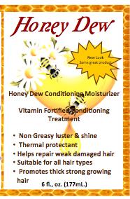 6 oz. Honey Dew Hair Lotion