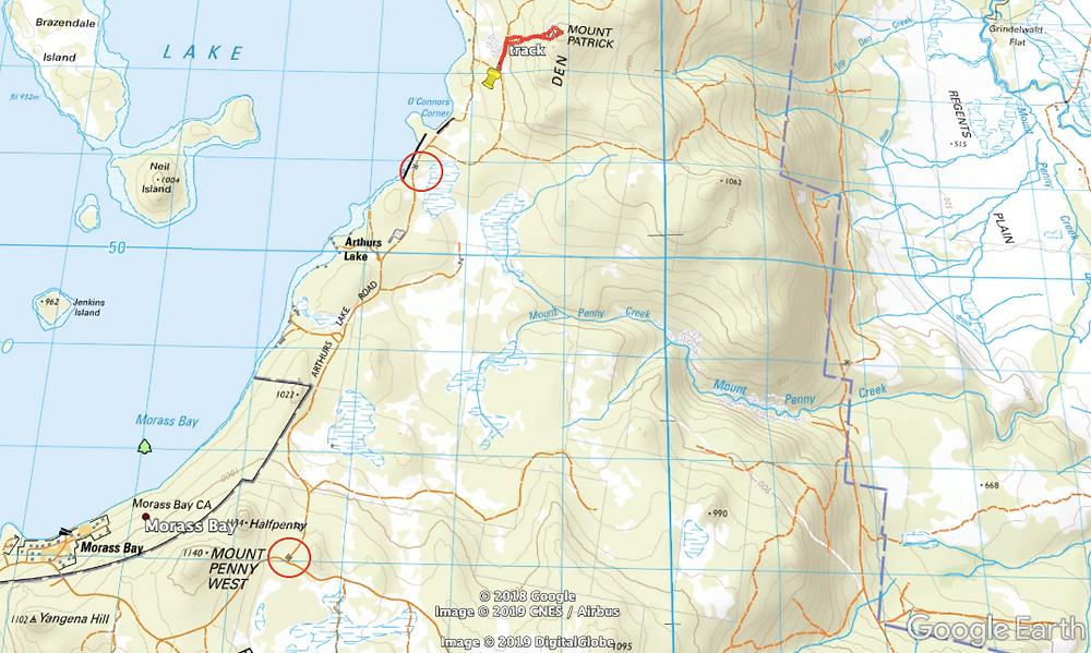 Mt Patrick route