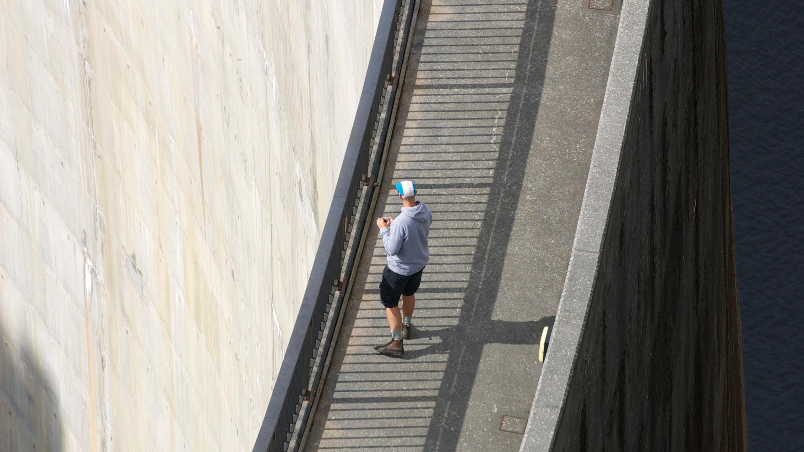 Ferg on the dam wall